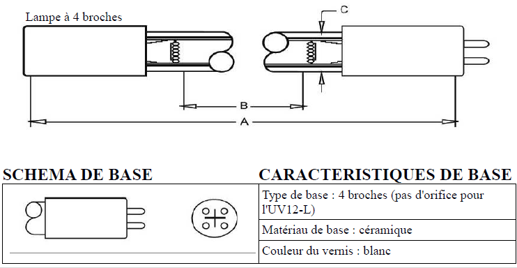 schéma Lampe uv pour stérilisateur