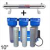 Station de stérilisation Uv 12 GPM et filtration eau de puits 10 pouces