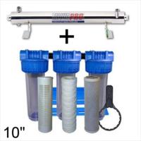 Station de stérilisation Uv 6 GPM et filtration eau de puits 10 pouces