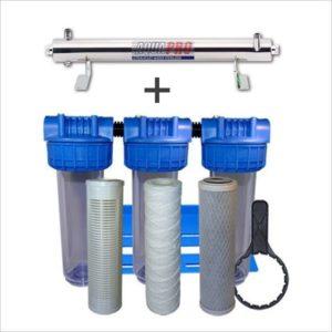 Station de stérilisation Uv 12 GPM et filtration eau de puits