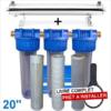 Station uv 3300 litres heure 20 pouces filtration purification eau de puits