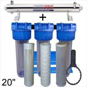 station uv sterilisation 2725 litres par heure 20 pouces