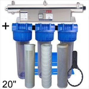 station uv sterilisation 5450 litres par heures 20 pouces compteut heure moniteur