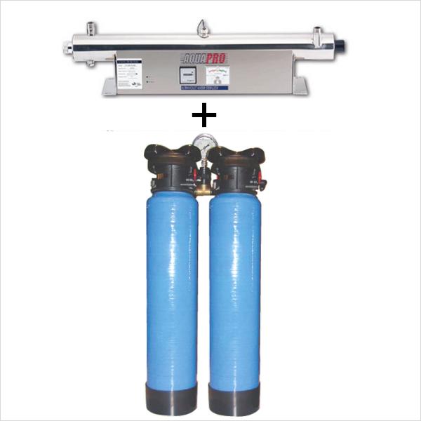 station uv sterilisation 24 gpm moniteur 20 pouces filtre sable
