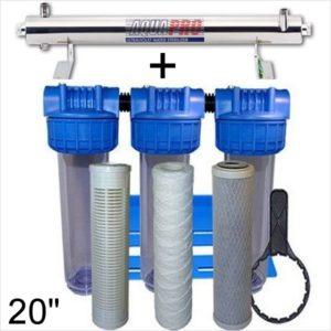 station uv stérilisation 1362 litres par heure 20 pouces
