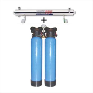 station uv sterilisation 6 gpm 20 pouces filtre sable